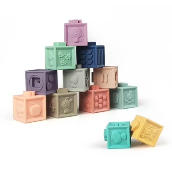 KIK Měkké senzorické hrací kostky 10 ks3