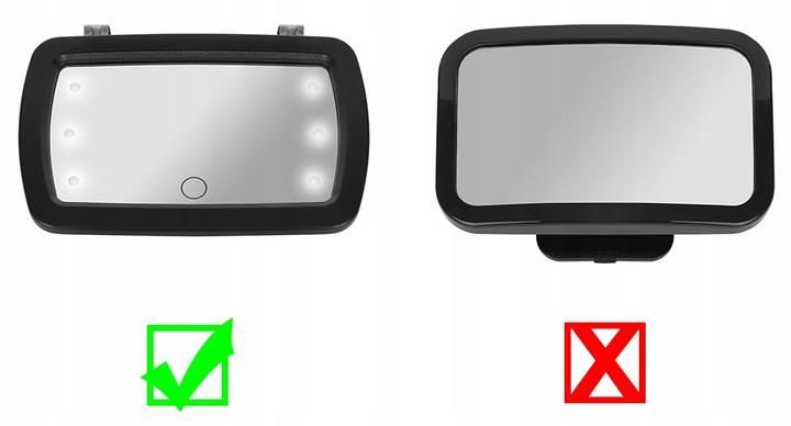 ISO 8929 Zpětné LED zrcátko pro kontrolu dítěte 4