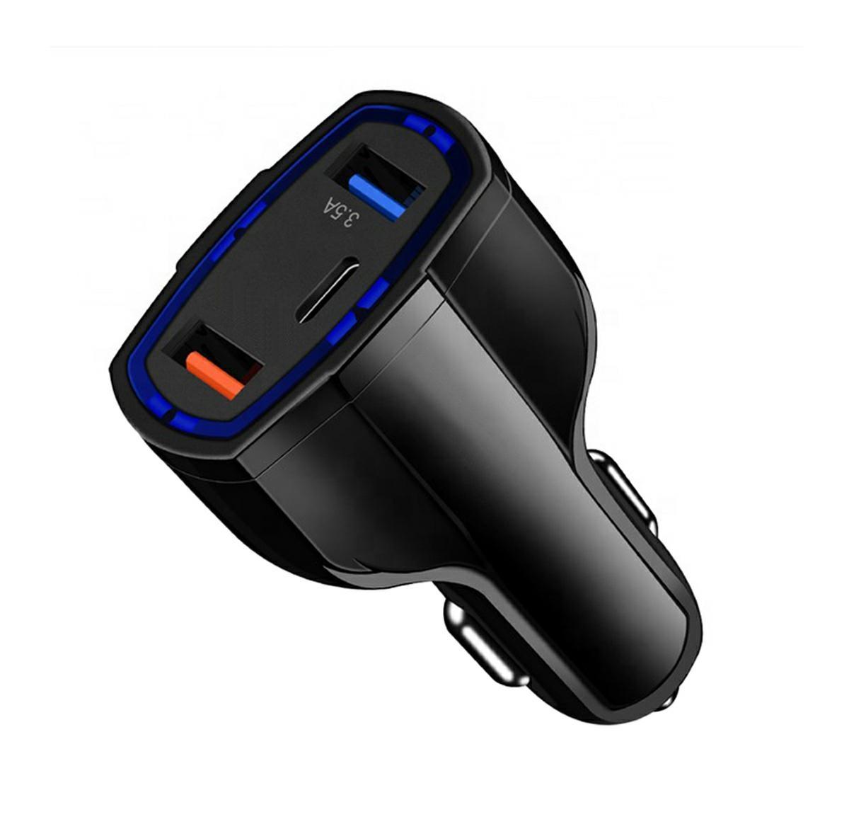 APT PLS34E Nabíjačka do auta Quick Charge 3.0 QC3.0 2xUSB / USB Typ C čierna