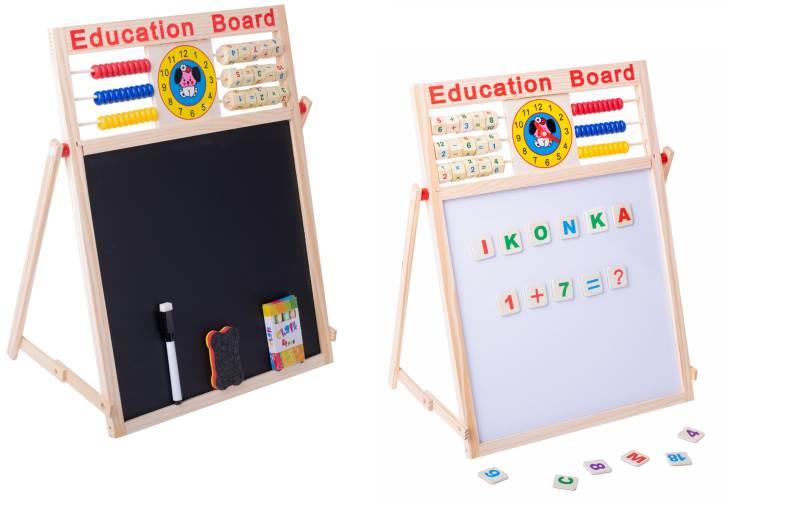 KIK KX6902 Multifunkčná obojstranná tabuľa pre deti 42 x 32,5 cm