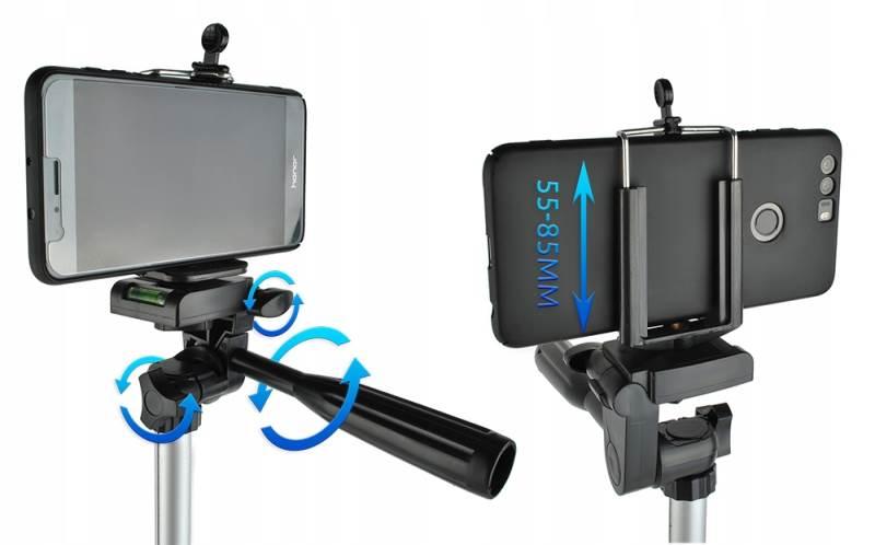 ISO 6067 Hliníkový stativ 133 cm s bluetooth ovladačem3