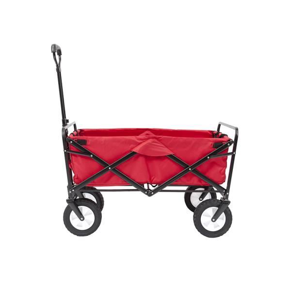 Carruzzo O4A Záhradný prepravný vozík skladací červený6