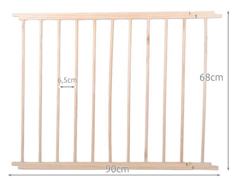 Malatec 1803 Drevená ohrádka borovica 8 panelov XXL2