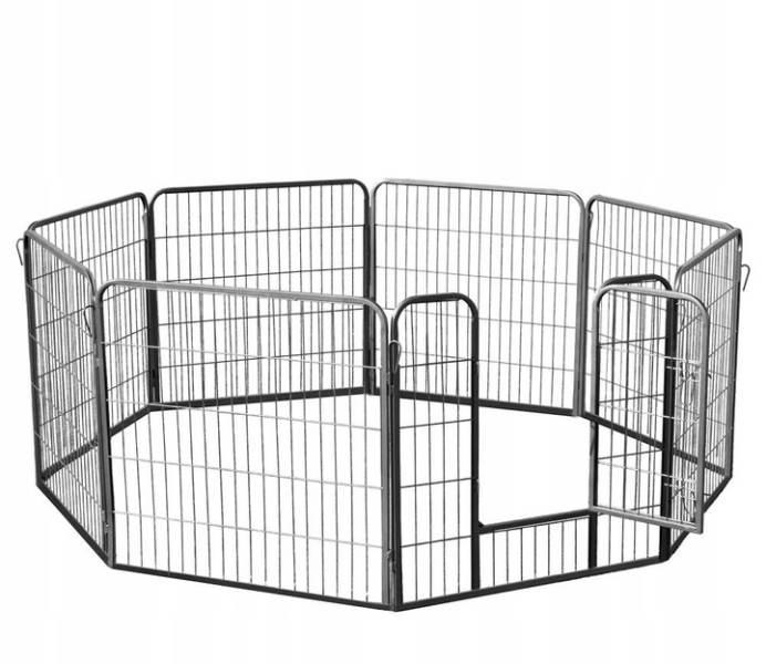 Malatec 9041 Kovová ohrádka pre psíkov a šteniatka 8-dielna 80 x 80 cm4