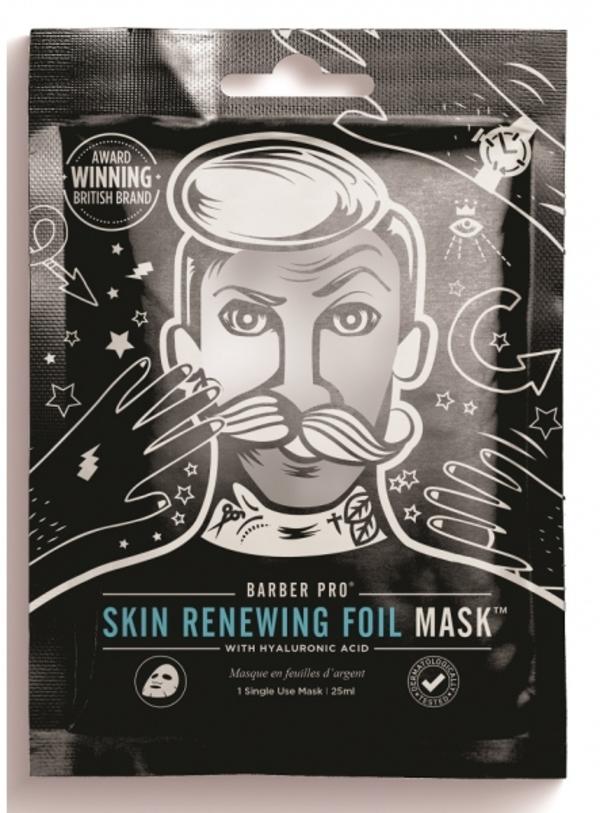 BarberPro Pánska Obnovujúci Pleťová Maska sa zahrievacie fóliou, 25ml
