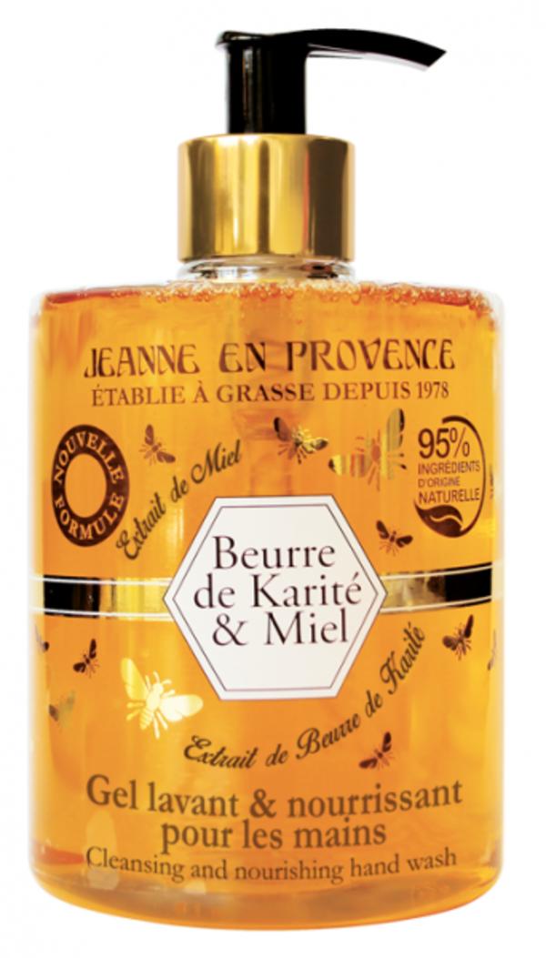 Jeanne en Provence Mycí gel na ruce - Bambucké máslo a med, 500ml