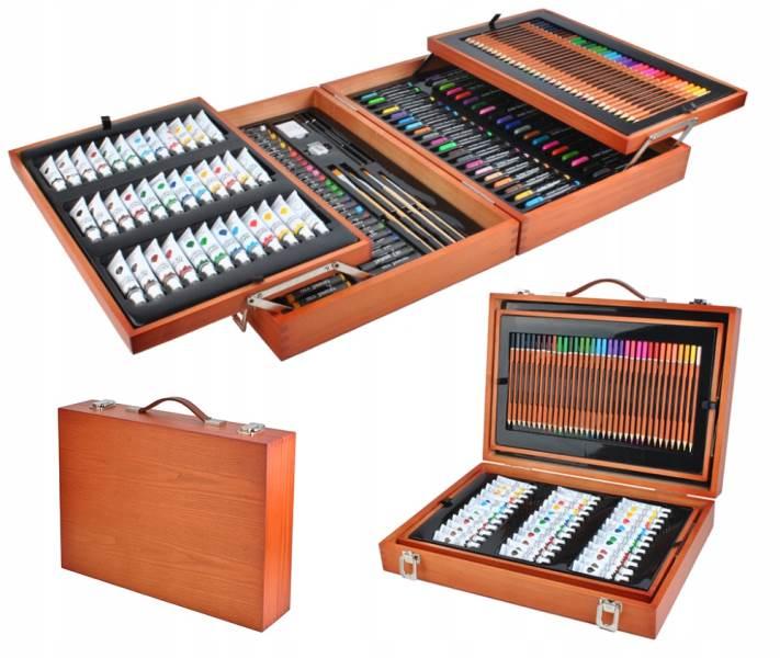 ISO 6004 Velká sada v dřevěném kufříku pro malé malíře 174 ks