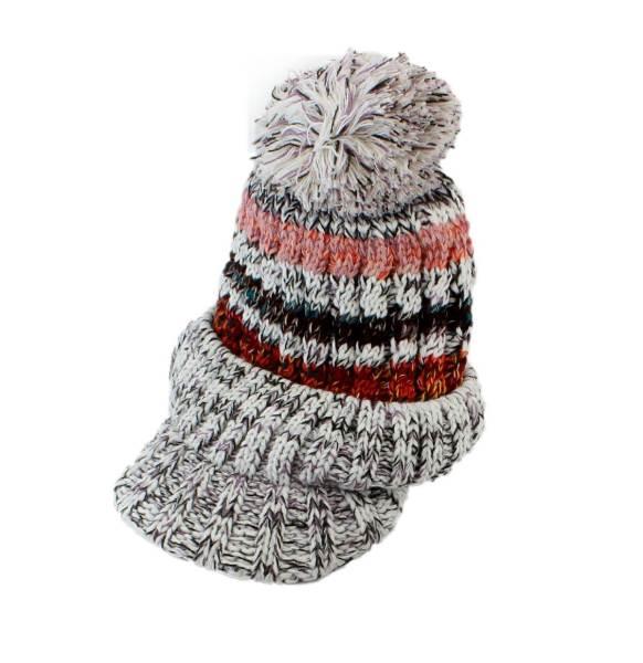 APT Dámska zimná čiapka s nákrčníkom šedá3