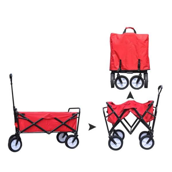Carruzzo O4A Záhradný prepravný vozík skladací červený4
