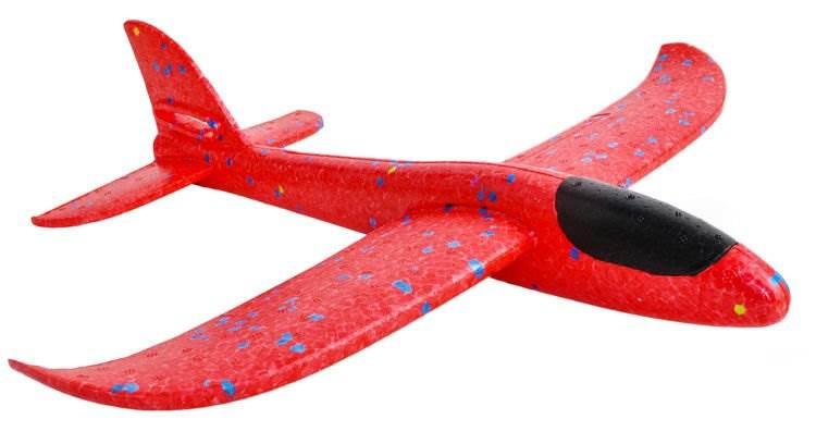ISO 9135 Penové Hádzacie Lietadlo 37cm červené