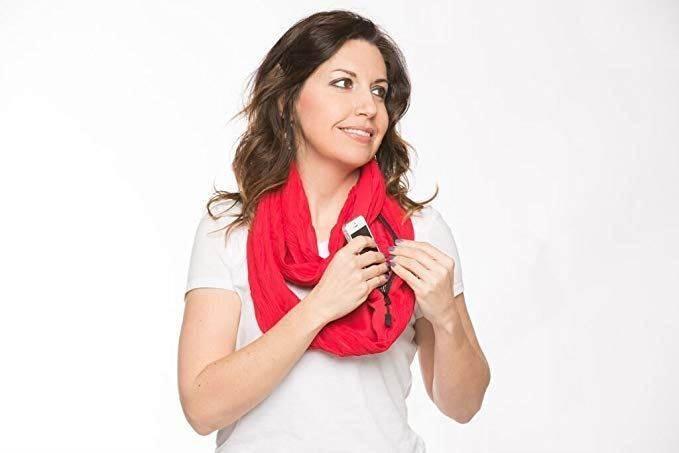GFT Šátek s kapsou červená