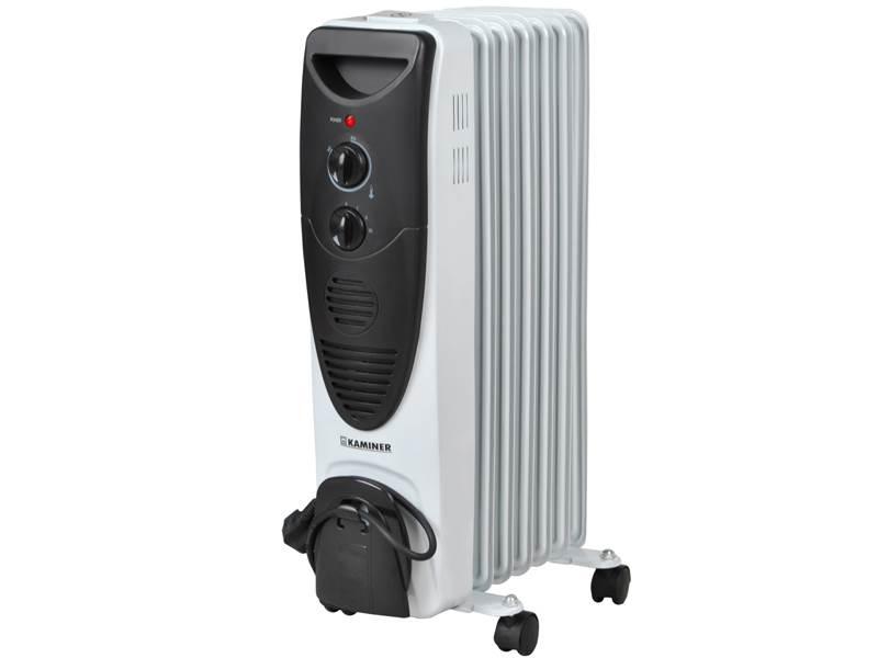 Kaminer 2842 Olejový radiátor 1500W - 7 rebier šedočierny