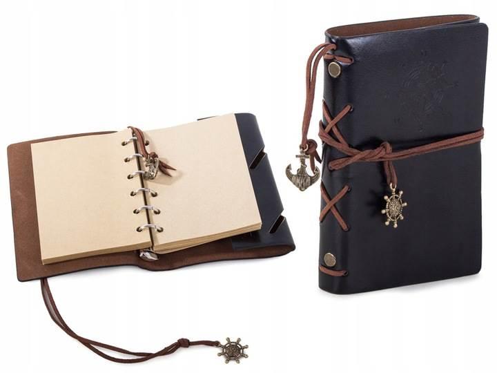 Verk Cestovné denník s kompasom Vintage čierna