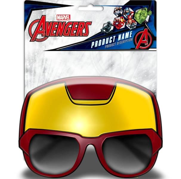 Javoli Slnečné okuliare pre deti Avengers 3D červené