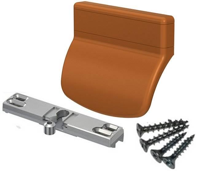 ISO 8536 Balkonové madlo se západkou dub1