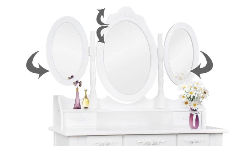 Malatec 4644 Toaletný stolík so stoličkou a zrkadlom XL4