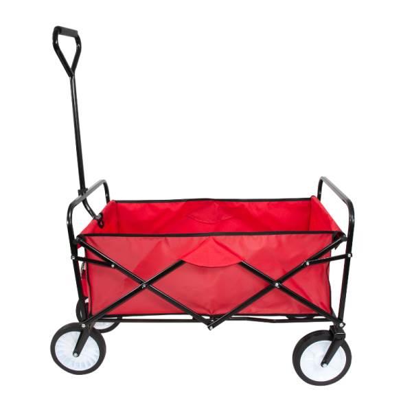 Carruzzo O4A Záhradný prepravný vozík skladací červený2