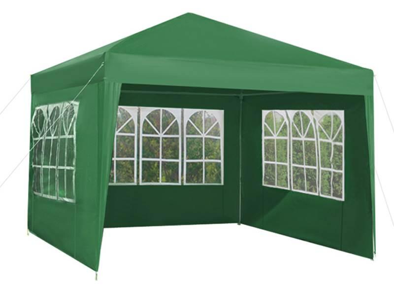 Malatec 5506 Záhradný párty stan 3 x 3 m + 3 bočné steny zelený