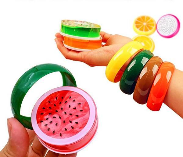 KIK KX7724 Antistresový sliz ve tvaru ovoce 6ks