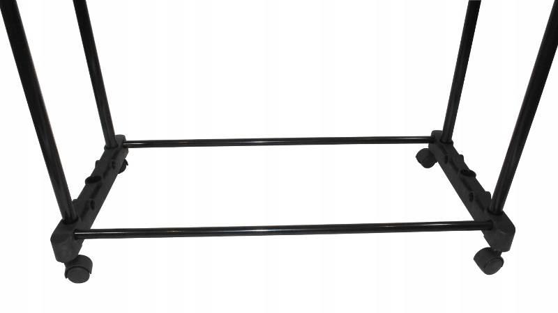 ISO 7834 Nastaviteľný dvojitý stojan na odevy so 4 kolieskami a 2 tyčami HQ4