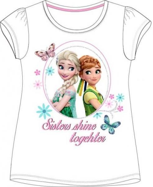 Javoli Detské tričko krátky rukáv Disney Frozen veľ. 104 biele