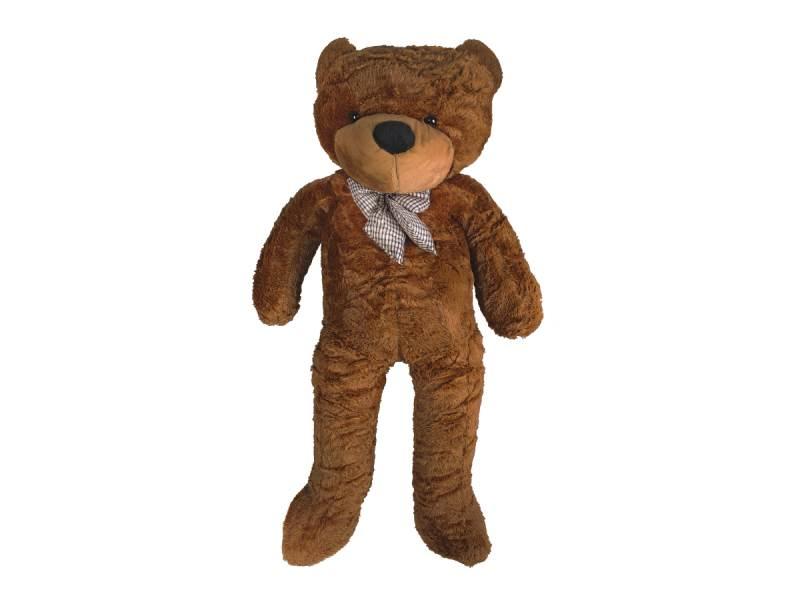 Velký plyšový medvěd tmavě hnědý 100 cm