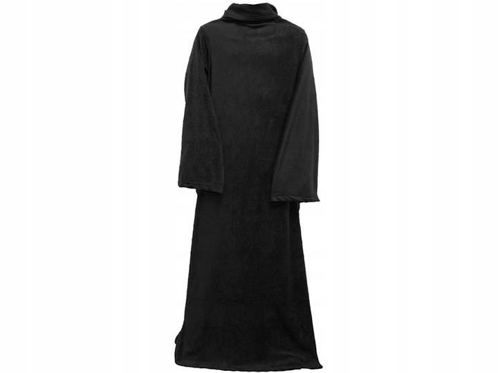 Verk Fleecová deka s rukávy Snuggie černá
