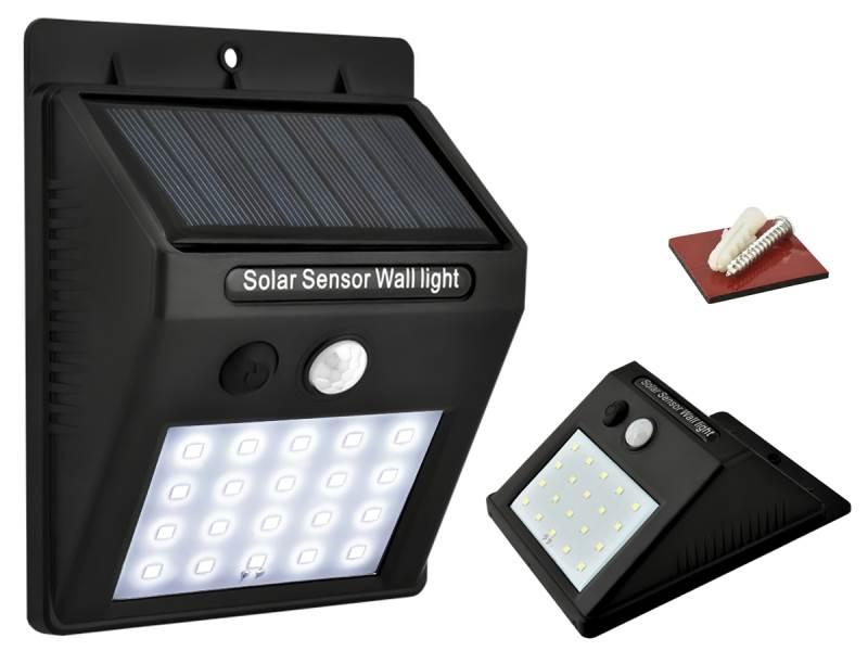 ISO 5015 Vonkajší LED osvetlenie 0.2W s pohybovým senzorom - solárne