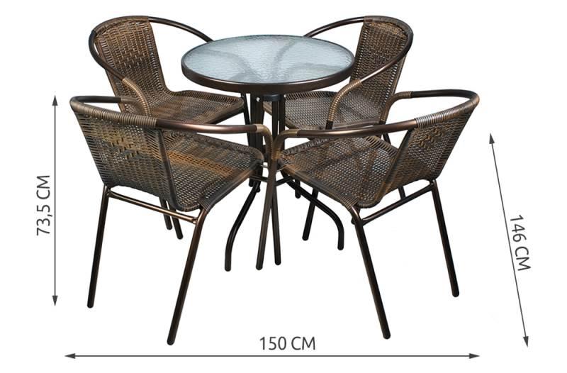 Malatec 6525 Zahradní nábytek hnědá2