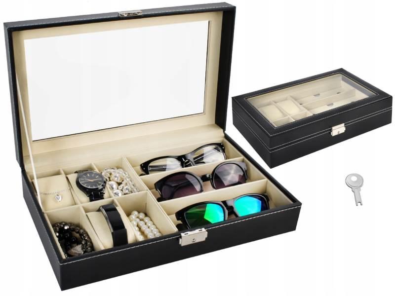 ISO 8497 Organizér na okuliare a hodinky Box na 9ks