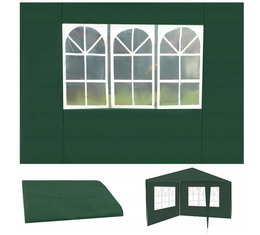 Malatec 12915 Bočnice pre stany 3 x 3 m s oknami zelená