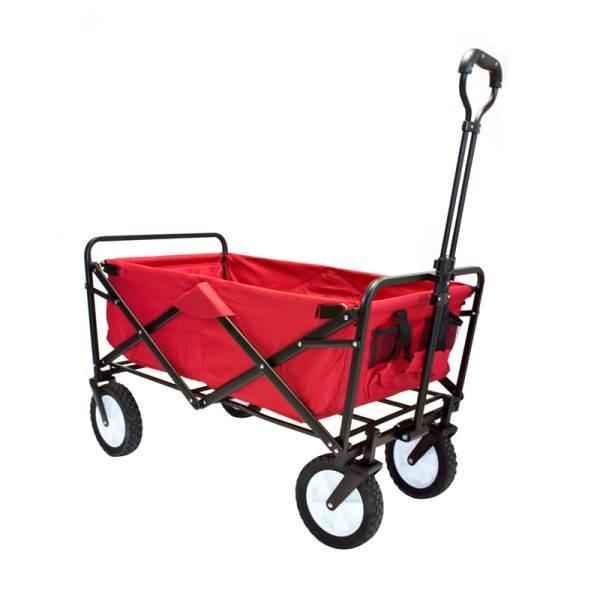 Carruzzo O4A Záhradný prepravný vozík skladací červený5