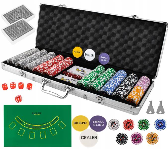 ISO 9538 Poker set 500 žetonů HQ
