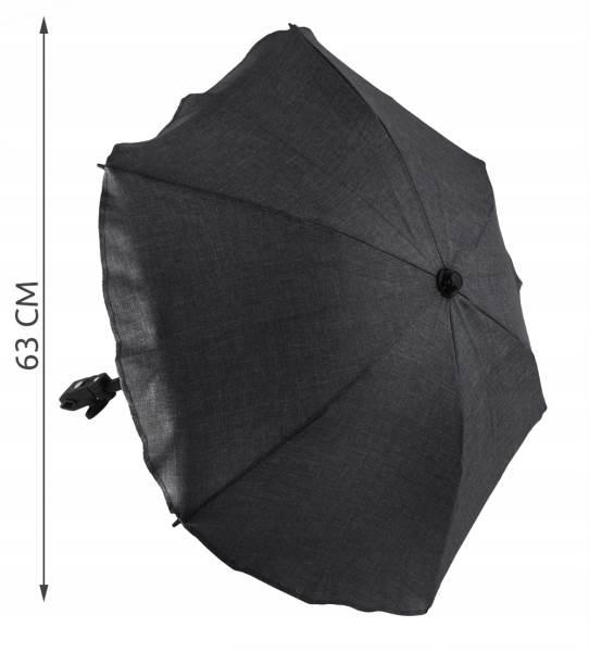 ISO 6571 Slnečník na kočík tmavosivý Ľan2