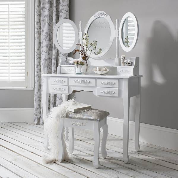 Malatec 4644 Toaletný stolík so stoličkou a zrkadlom XL2