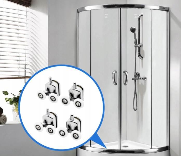 ISO 9647 Kolečka ke sprchovým koutům 8 ks chrom5