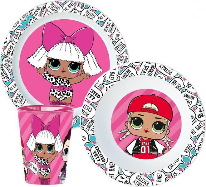 Javoli Detská jedálenská súprava LOL Surprise 3-dielna, plast