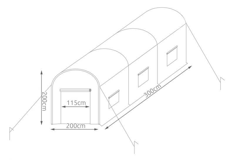 Malatec 8032 Oblúkový fóliovník 3 m x 2 m x 2 m5