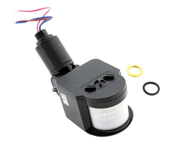 APT AG478C Pohybové čidlo PIR pre spínanie svetiel čierne
