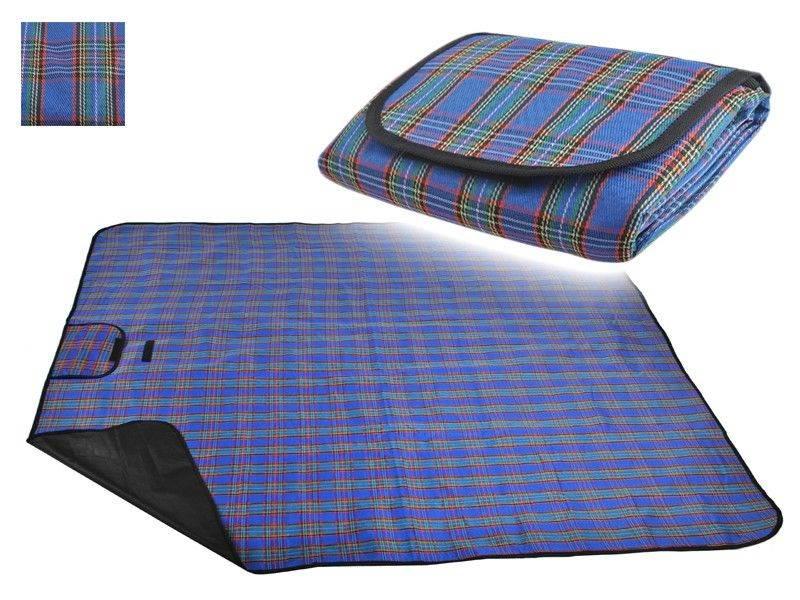 Malatec Pikniková deka modrá Basic 150x180cm