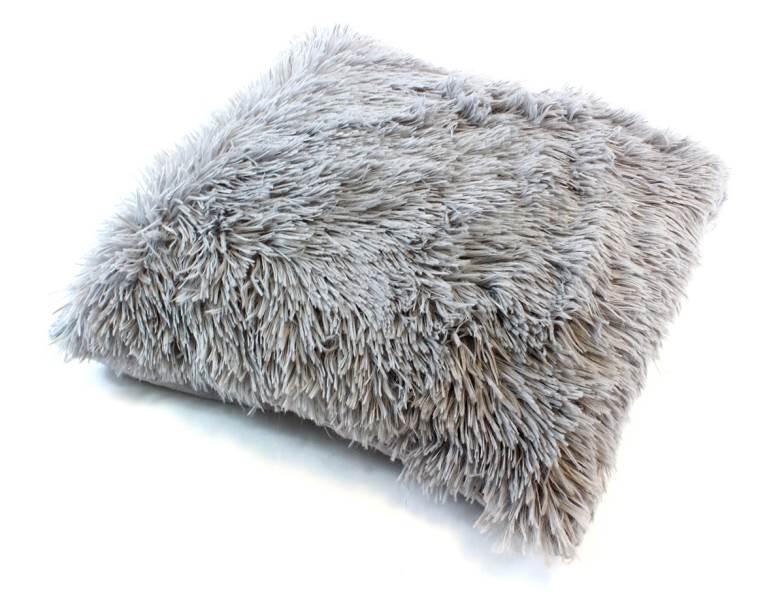 APT Plyšový chlupatý povlak na polštář 43 x 43 cm šedá