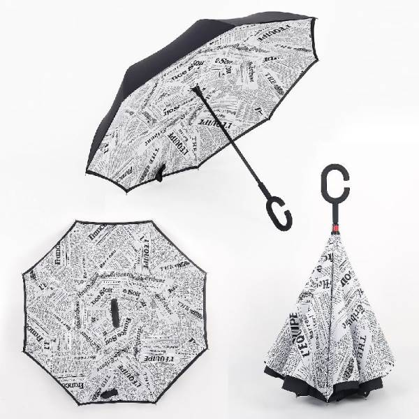 KIK KX7788_2  Obrácený deštník - noviny
