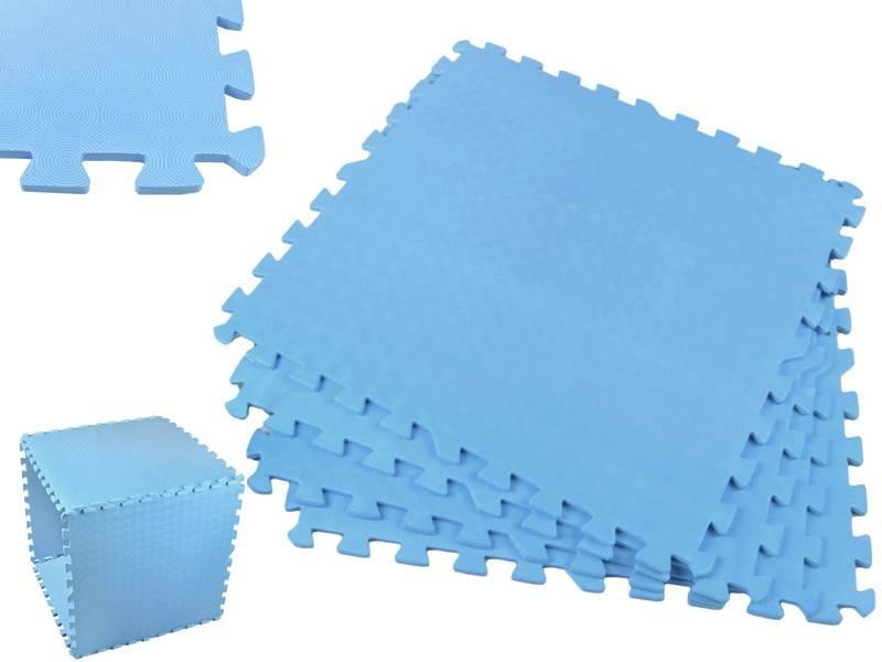 EVA Penový koberec 60 x 60cm - 4 ks Modrá bazar