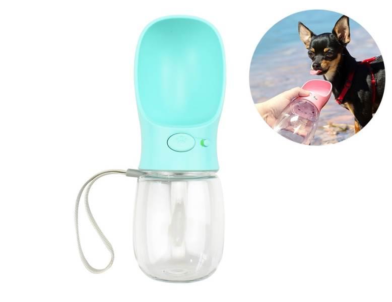 KIK Cestovní láhev pro psa 350 ml modrá