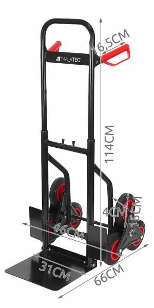 Malatec 9042 Schodiskový rudla šestikolový 200kg3