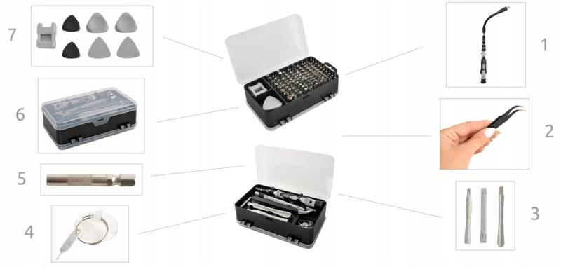 ISO 8645 Sada nářadí na opravu elektroniky 110 dílů3