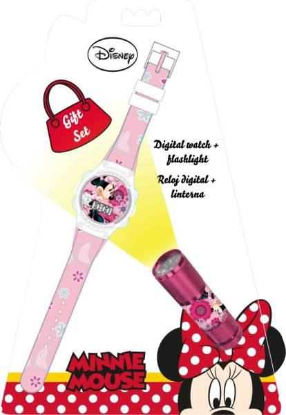 Javoli Darčeková sada Minnie Mouse Hodinky a LED baterka