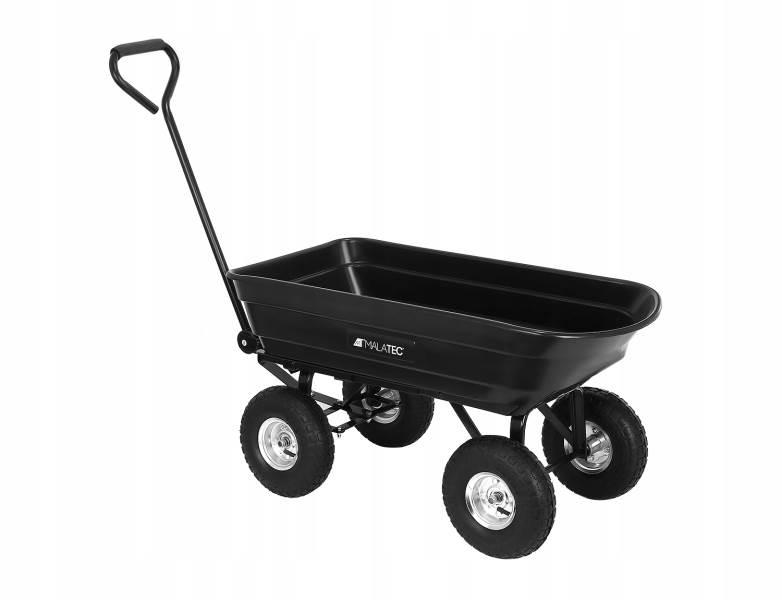 Malatec 9043 Zahradní přepravní vozík výklopný 350 Kg černá3