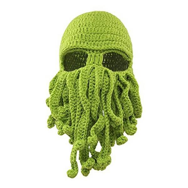 Master Pletená čepice kukla chobotnice zelená