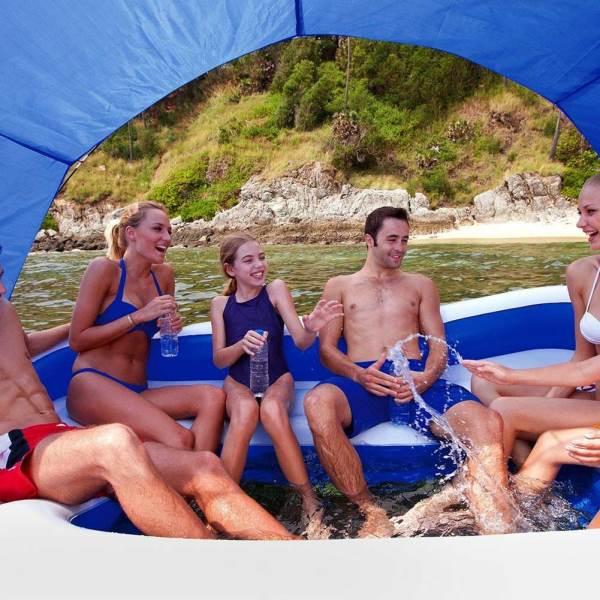 Bestway 43105 Tropical Breeze Nafukovací plovoucí ostrov 389 x 274 cm 3